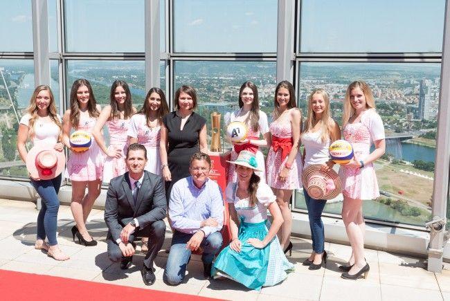 Die Beach Girls für die Beach-Volleyball-WM auf der Donauinsel sind auserkoren.