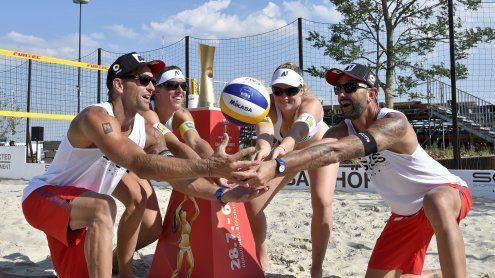 Beach-Volleyball-WM: Heimische Größen bei Pokal-Präsentation