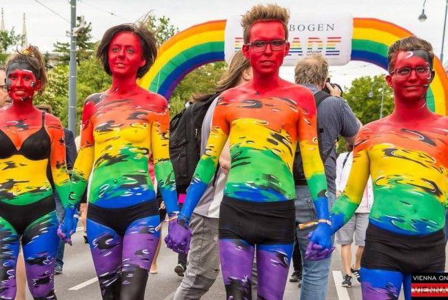 Das war die Regenbogenparade 2017 in Wien