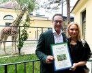 Schönbrunn: Strache und Ehefrau Philippa übernehmen Patenschaft für Giraffen