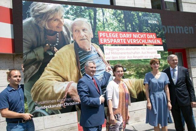 Die Wahlkampfzentrale der SPÖ wurde eröffnet