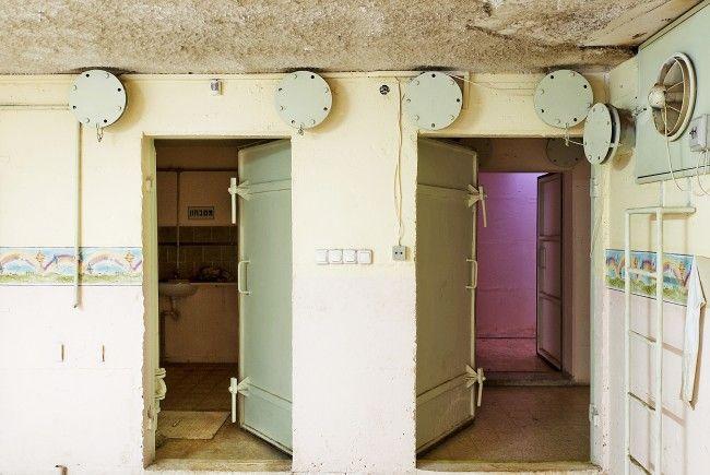 Die Schutzräume sind über ganz Isreal verteilt.