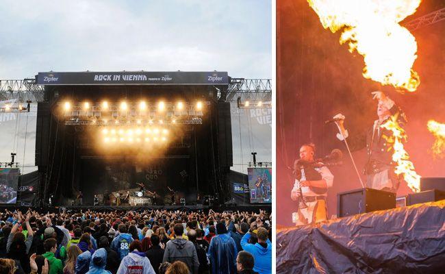 10.000 Fans trotzten bei Rock in Vienna am Sonntag dem mäßigen Wetter in Wien.