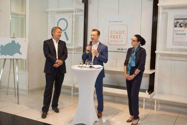 Beim Pressetermin zum Wiener Stadtfest 2017