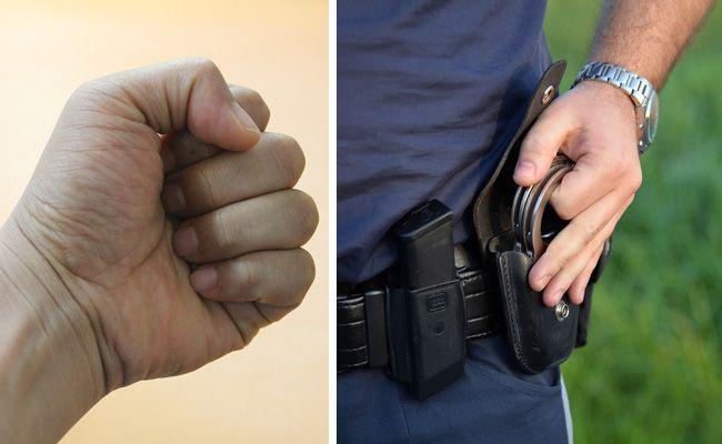 Mehrere Polizisten wurden am Dienstag bei Einsätzen verletzt.