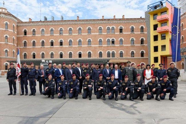Die neuen WEGA-Beamten wurden in Wien geehrt