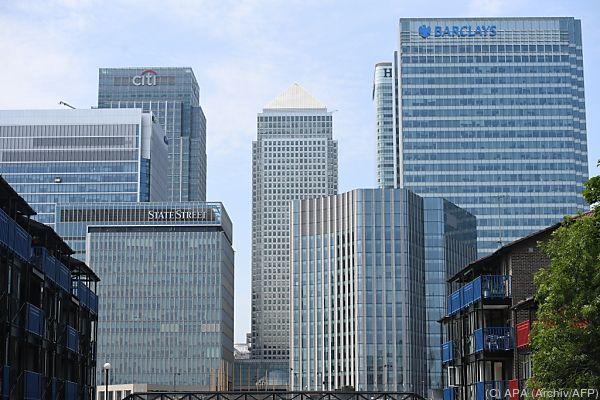 Geldinstitute am Finanzplatz London