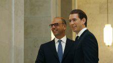 Angelino Alfano trifft Sebastian Kurz in Wien
