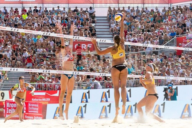 Auch das Wildcard-Duo Strauss/Holzer unterlag gegen das deutsche Team.