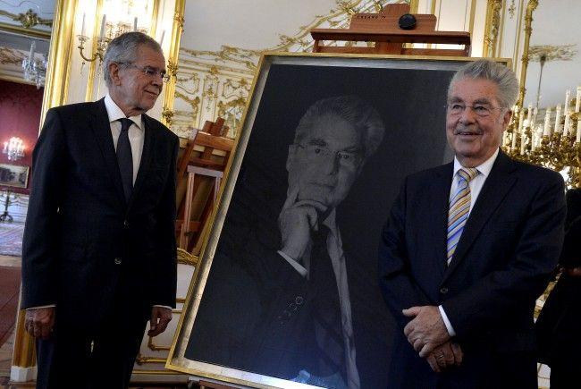 Alt-Bundespräsident Heinz Fischer (r.) und das aktuelle Staatsoberhaupt Alexander Van der Bellen.