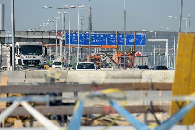 Auf der A23 in Wien wird auch diesen Sommer gebaut.
