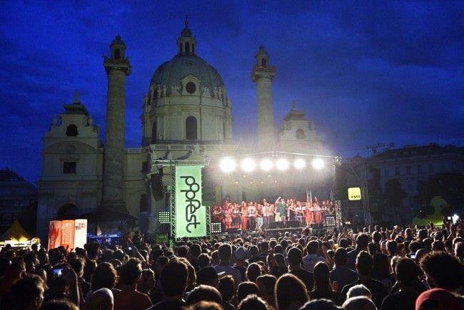 Der Andrang beim Popfest am Karlsplatz wird erwartungsgemäß wieder groß
