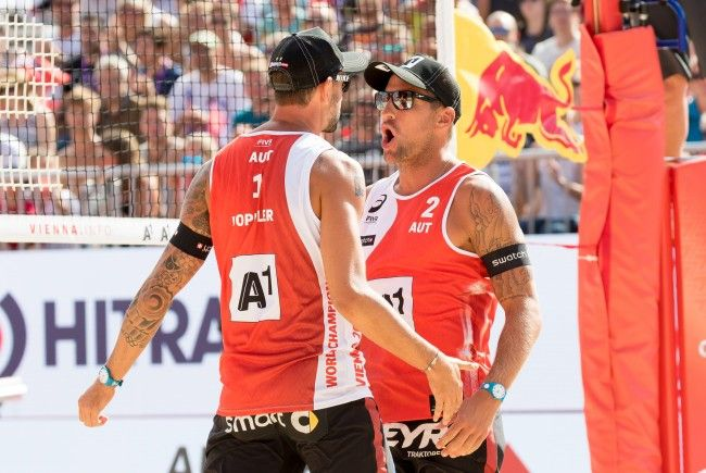Das Duo Doppler/Horst darf den Auftaktsieg in Wien feiern