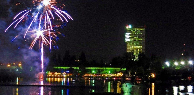 Das große Lichterfest an der Alten Donau