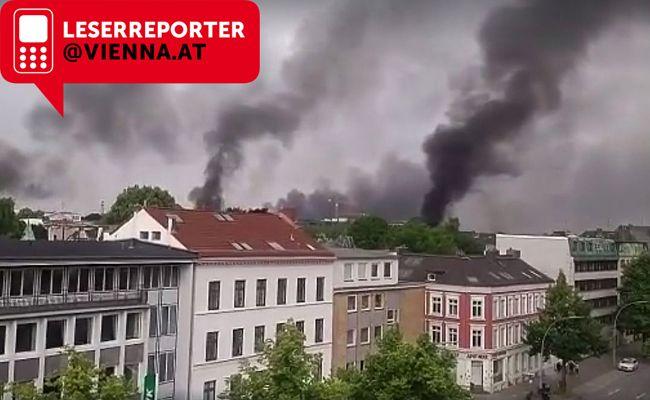 Journalist Jens Meyer-Wellmann hat die Szenen in Hamburg eingefangen