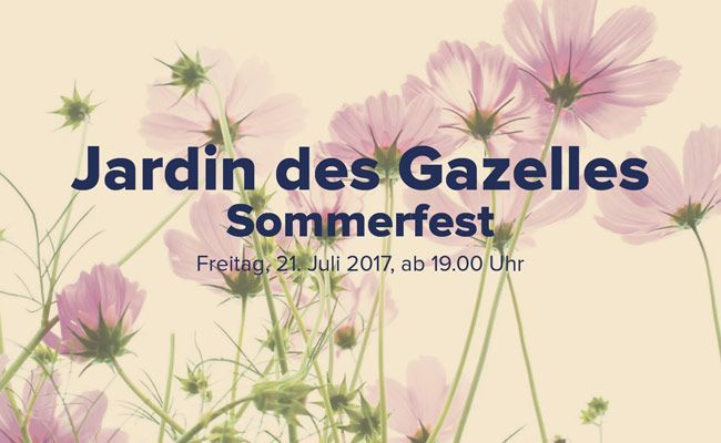 Großes Sommerfest im Jardin des Gazelles