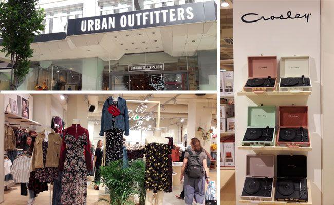 Eine große Vielfalt wird bei Wiens erstem Urban Outfitters geboten