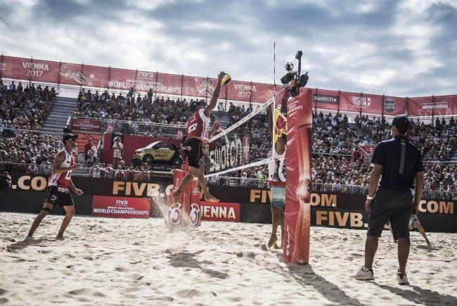 Das war der 1. Tag bei der Beach Volleyball WM in Wien.