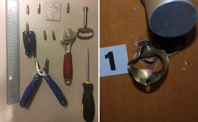 Bei der Festnahme des Mannes wurde Einbruchwerkzeug sichergestellt.