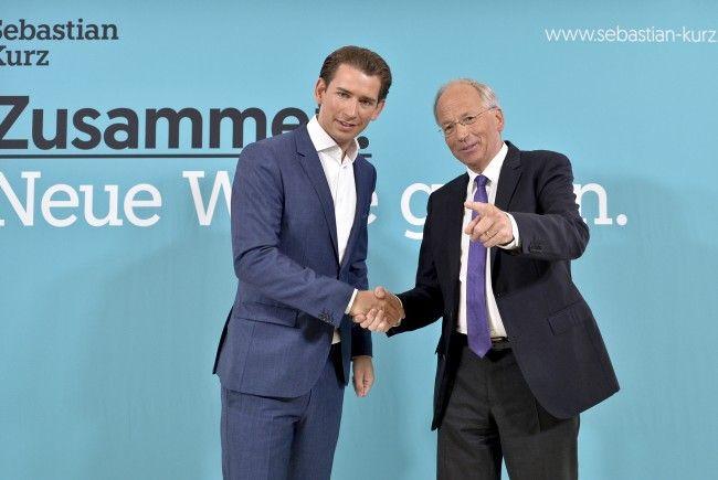 ÖVP-Chef Sebastian Kurz mit dem Mathematiker Rudolf Taschner.
