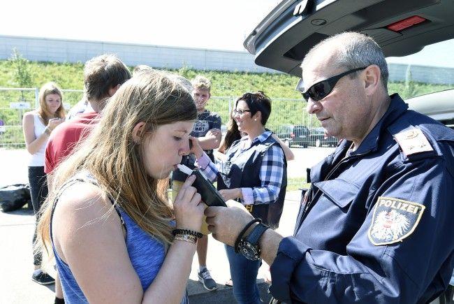 Auch Alkotests wurden von der Polizei am Frequency-Festival durchgeführt.