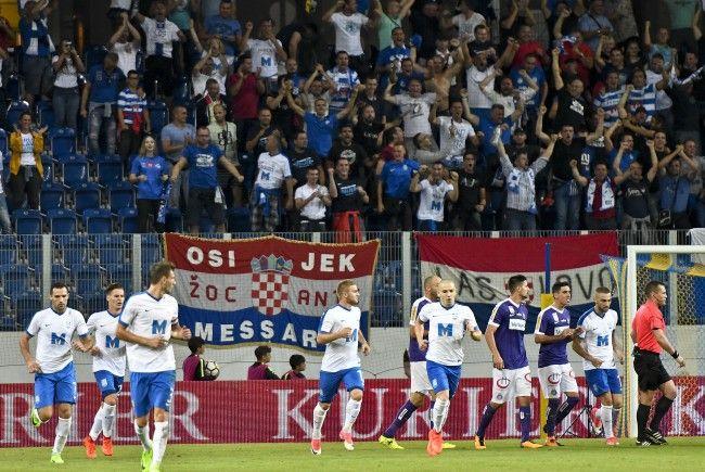 Beim Europa League-Match zwischen Austria Wien und Osijek kam es zu Festnahmen.