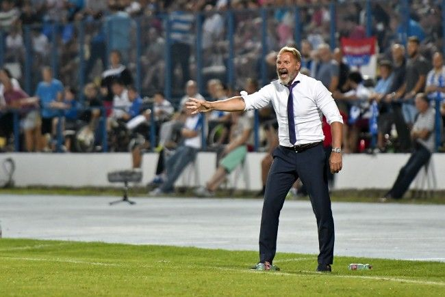 Austria-Trainer Thorsten Fink hat in Osijek Positives und Negatives gesehen.