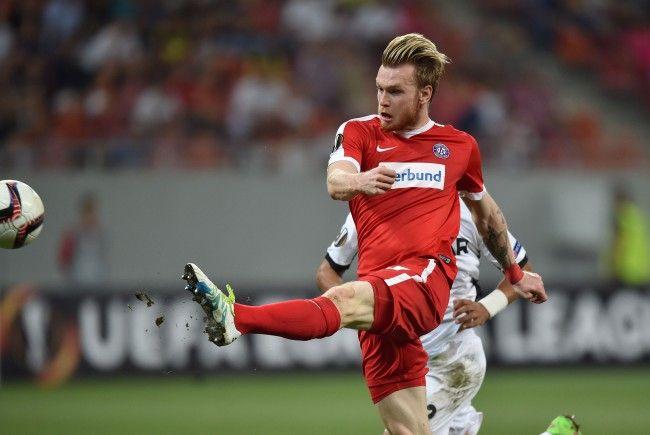 """Kevin Friesenbichlers Treffer für Austria Wien auswärts bei Astra Giurgiu steht zur Wahl zum """"Tor der Saison"""" der UEFA."""
