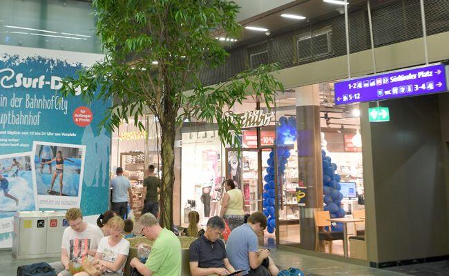 Es grünt am Wiener Hauptbahnhof