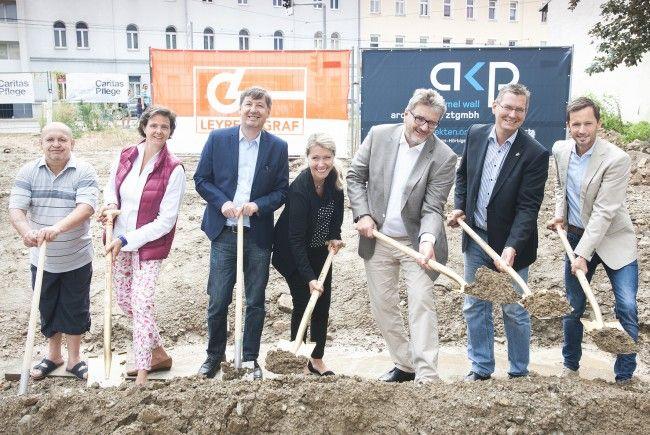 Spatenstich für neues Pflegewohnheim in Wien-Floridsdorf.