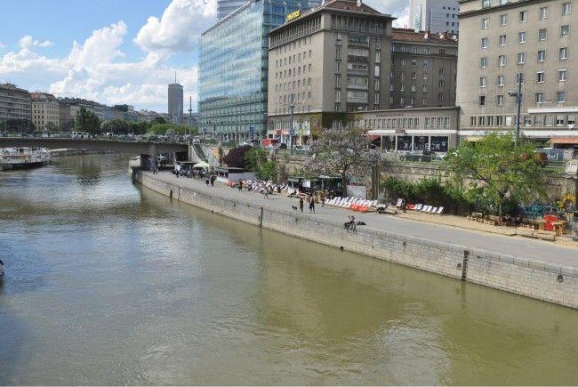 Trotz seines Sprung in den Donaukanal konnte die Polizei den Verdächtigen schließlich festnehmen.