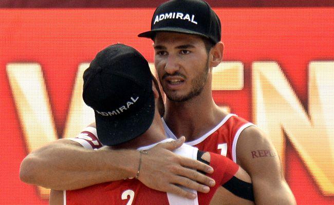 Die Österreicher Martin Ermacora und Moritz Pristauz mussten sich geschlagen geben