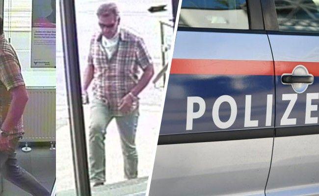 Die Polizei bittet um Hinweise zum Täter, der versuchte eine Bankfiliale in Wien auszurauben.
