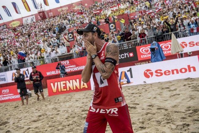 Clemens Doppler steht mit Alex Horst im Finale der Beach-Volleyball-WM in Wien.