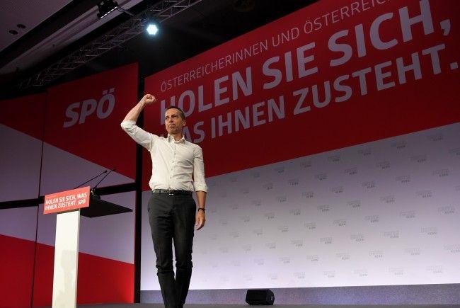 SPÖ-Chef Kern beim Bundesparteirat in Wien