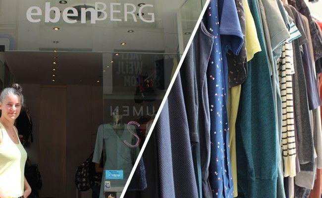 Laura Ebenberg verkauft in der Neubaugasse faire Mode.