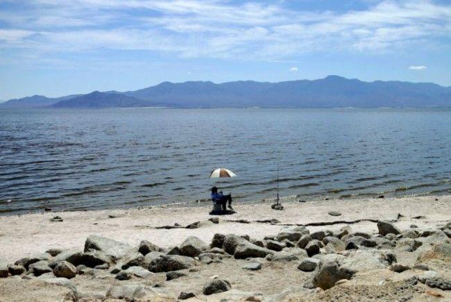 Die Geisterstadt Bombay Beach liegt am Salton Sea.