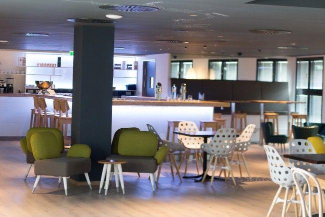 Die Lounge im neuen Arcotel Hotel in der Donaustadt Wien.