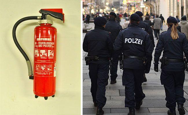 Ein Dieb hatte es in Wien-Neubau auf einen Feuerlöscher abgesehen