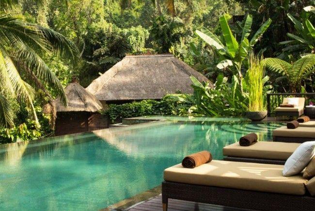 """""""Hanging Gardens"""": Ein paradiesisches Hotel auf Bali."""