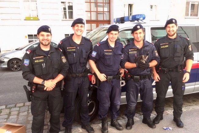 Diese kleine Katze konnten die Polizisten in Alsergrund befreien