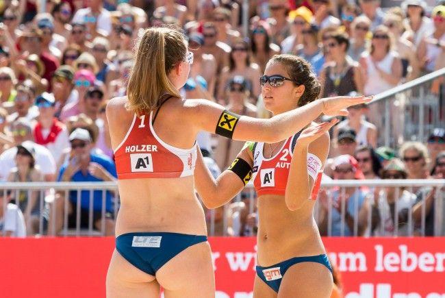 Holzer/Strauss präsentierten sich gut bei der Beach Volleyball WM in Wien.