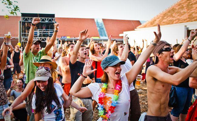 Partylaune beim Picture On Festival im Burgenland.