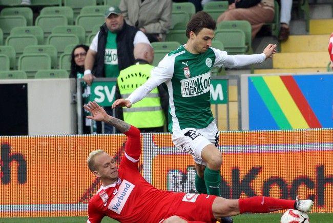 Die Wiener Austria schließt die fünfte Bundesligarunde in Mattersburg ab.