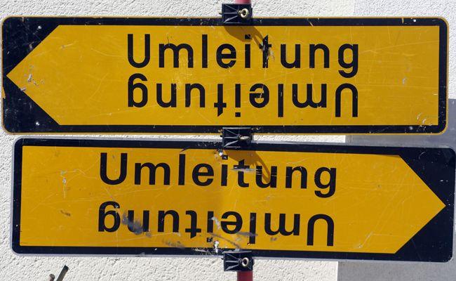 Aufgrund der Sperre der Triester Straße kommt es zu einer Umleitung.