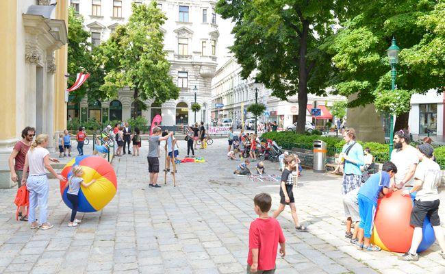 Bei der Wiener Spielstraße haben Kinder Vorrang.