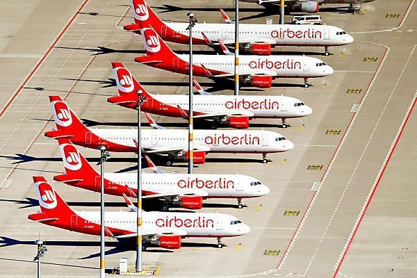 So manche Maschine der Air Berlin bleibt heute auf dem Boden