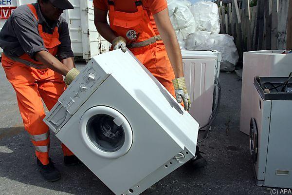 Österreicher sammelten 2016 83.000 Tonnen Elektroaltgeräte
