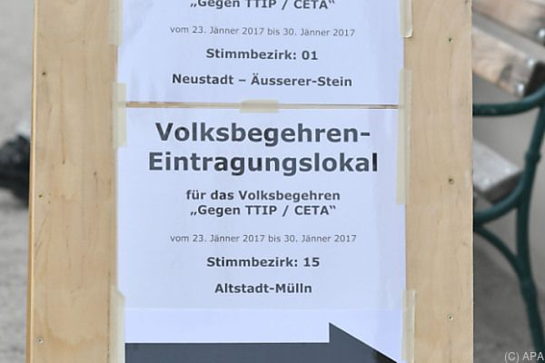 Wann kommt das CETA/TTIP-Volksbegehren in den Nationalrat?