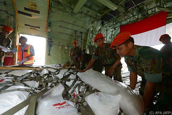 Vier Flugzeuge transportierten 34 Tonnen an Hilfsgütern